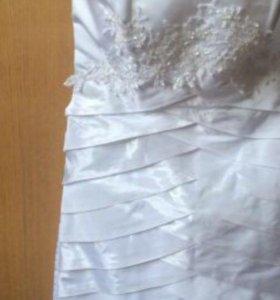 Свадебное вечернее платье короткое