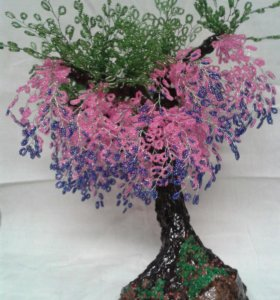 Дерево декоротивное из бисера