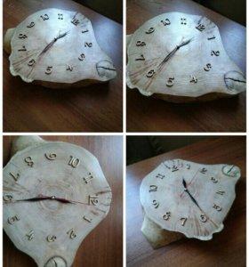 Часы настенные из натурального дерева