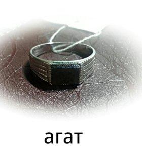 Кольцо агат 925 проба