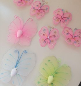 декоративные бабочки на булавке