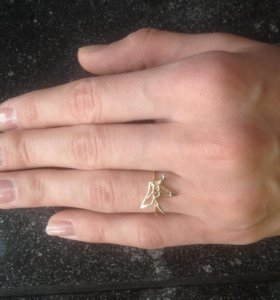 Набор журавли (серьги, кольцо)