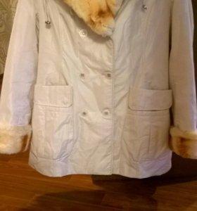 Зимнее пальто на кролике