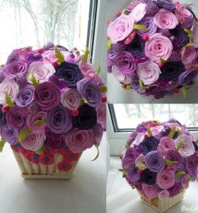 Горшок с цветами из ревелюра