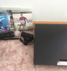 Sony PlayStation 3 Slim + Move + 3 игры