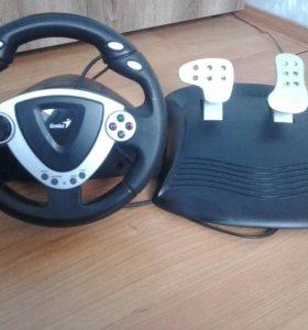 Игровой руль и педали Genius TwinWheel