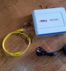 Модем ADSL- 1040- маршрутизатор