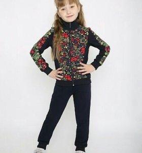 Новый модный костюм на девочку р.152