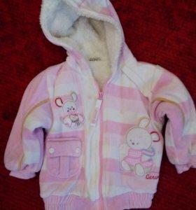 Курточка детская на весну(футболка в подарок)