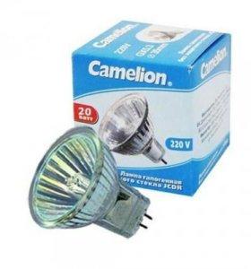 галогеновые лампы camelion. Есть и светодиод.