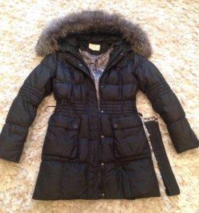 Куртка зимняя с чернобуркой.
