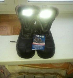 Продам зимние кожаные ботинки с металоподноском