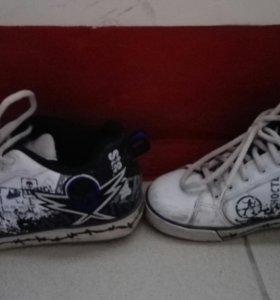Роликовые ботинки 40,5 размер.