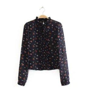 Блуза из шифона Zara