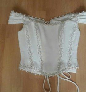 Свадебный гарнитур :юбка+корсет