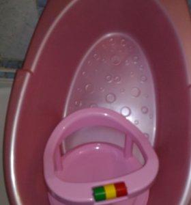 Ванночка сидушка слюнявчик и тарелочка