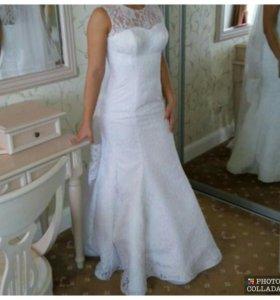 Платье свадебное, накидка