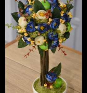 Подарок, дерево счастья, топиарий, сувенир