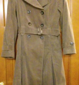 Вельветовое пальто