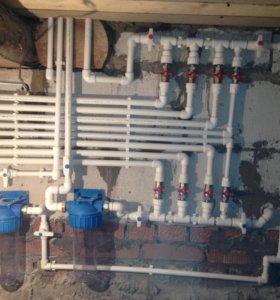 Установка газовых котлов , дымоходов