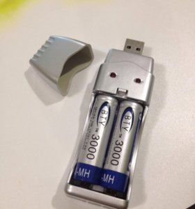 Зарядное устройство USB + 2 аккумулятора АА