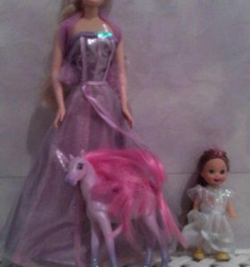 Барби с лошадкой и девочкой