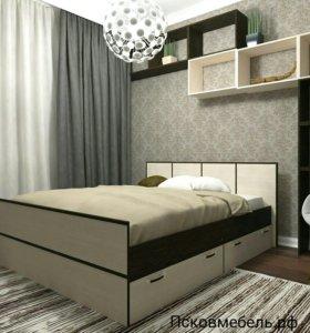 Кровать Весна 160*200 с ящиками