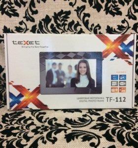 Фоторамка цифровая Texet tf 112