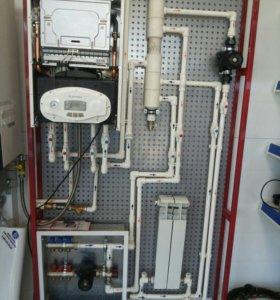Сантехнические работы.отопление и водоснабжение.
