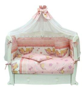 Комплект в детскую кроватку 7 предметов