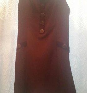 Платье темно бардовое