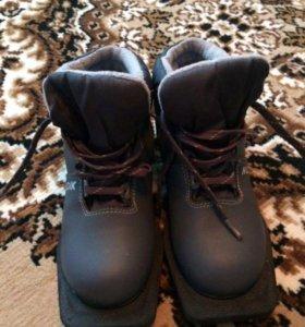 Ботинки лыжные+ крепления