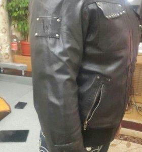 Куртка кожа Bruno Banani