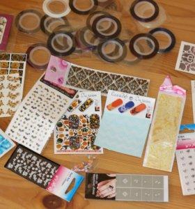 Ленты, наклейки и прочее для дизайна ногтей