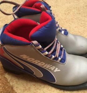 Ботинки лыжные, детские, 36 размер.