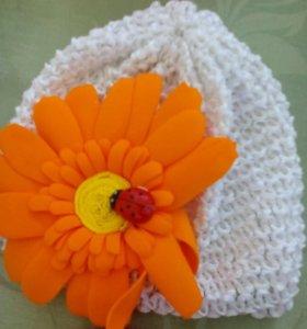 Шапочка с цветами