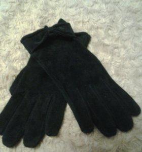 Перчатки женские замшевые 7,5 размер