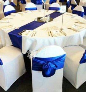Чехлы на стулья белые для праздника (50 шт.)