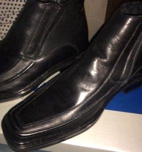 Зимние мужские ботинки(кожа)