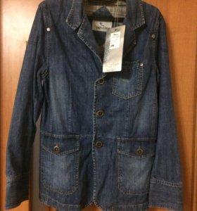 Джинсовый пиджак .