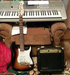 Электро гитара и комбик