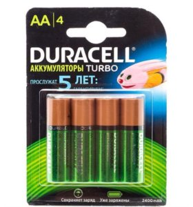 Аккумуляторные батарейки Duracell