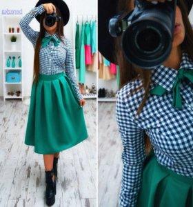 Костюм, юбка и рубашка