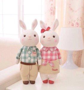 Парочка подарочных кроликов