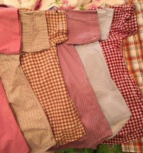 Мужские рубашки с коротким рукавом 7шт...
