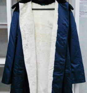 НОВОЕ цигейковое пальто.