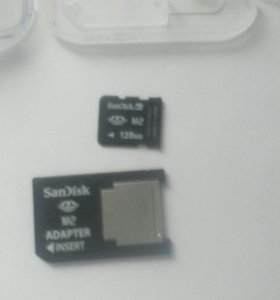 Карта памяти    SanDisk M2 adapter 128mb