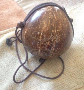 Сумка из натурального кокоса