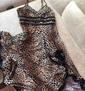 Очень красивое леопардовое платье 42-44р