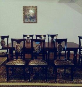Стол со стульями  (новый )